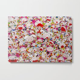 Takashi Murakami - Hustle'n'Punch By Kaikai And Kiki - Hustle'n'Punch By Kaikai And Kiki Metal Print