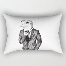 Frog in suit Rectangular Pillow