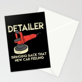 Car Detailer Auto Detailing New Car Feeling Car Cleaning Stationery Cards