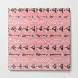 Triangle arrow pattern Metal Print
