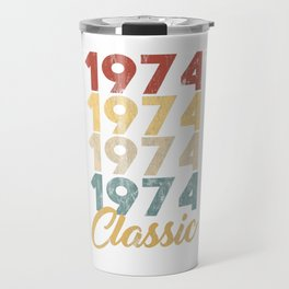 Vintage Retro Born In 1974 45th Birthday Gift Travel Mug