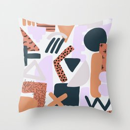 Geometric Doodle Pattern Throw Pillow