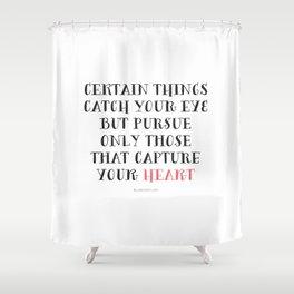 Heart Captured Shower Curtain