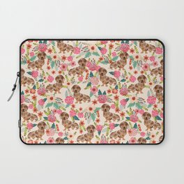 Dapple cream Dachshund doxie floral florals dog breed gifts for pupper must haves Laptop Sleeve