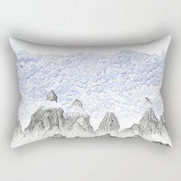 Cobalt Coudy Mountains 2: Lake Rectangular Pillow