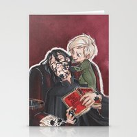 snape Stationery Cards featuring Babysitting - Snape and Draco by CaptBexx