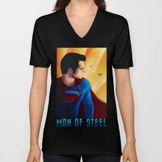 Man of Steel Unisex V-Neck