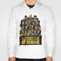 reggae Hoodies featuring Legends of Reggae Poster by Panda
