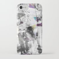 newspaper iPhone & iPod Cases featuring Newspaper collage by Arken25