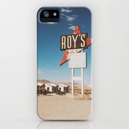Roy's Motel iPhone Case