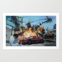 GTA Art Print
