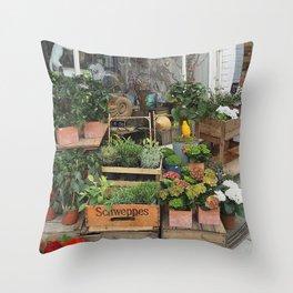 At the Florists III Throw Pillow