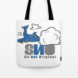 S.N.O Plane Killing Cloud Tote Bag