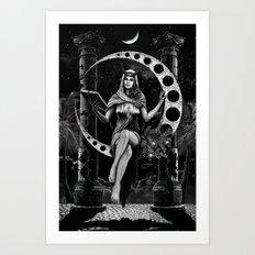 II. The High Priestess Tarot Card Illustration Art Print
