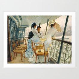 James Tissot,  The Gallery of HMS Calcutta (Portsmouth) c.1876 Art Print