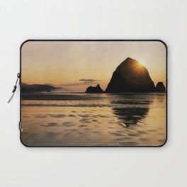Cannon Beach haystack Laptop Sleeve