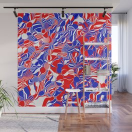 red white and blue 2 Wall Mural
