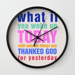 What If - White Wall Clock