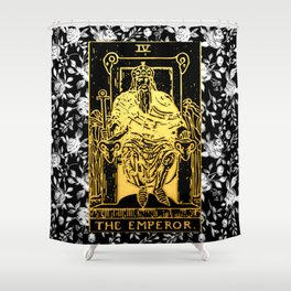 The Emperor - A Floral Tarot Print Shower Curtain