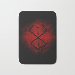 Black Marked Berserk Bath Mat