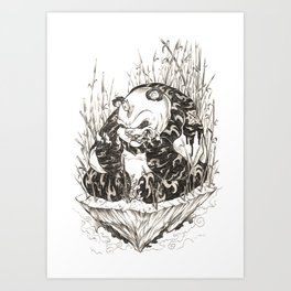 Pandamonium Art Print