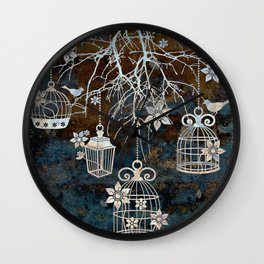 Bird Cage Chandelier Wall Clock