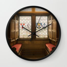Edinburgh castle stained glass windows Scotland Wall Clock