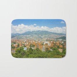 Aerial View of Medellin from Nutibara Hill Bath Mat