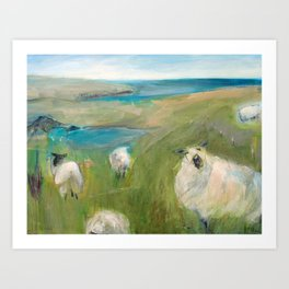 Flock of Sheep Art Print