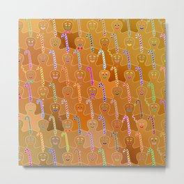 Happy Gingerbreads Metal Print