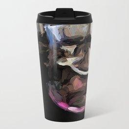 Eclectic Pink Glass Metal Travel Mug