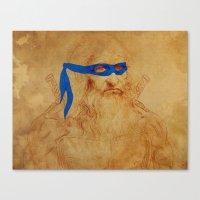 leonardo Canvas Prints featuring Leonardo by Misha Libertee