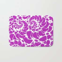 Modern abstract neon pink white fractal pattern Bath Mat