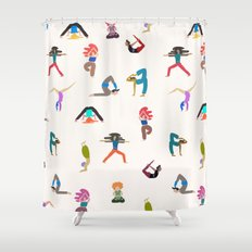 yoga lovers Shower Curtain
