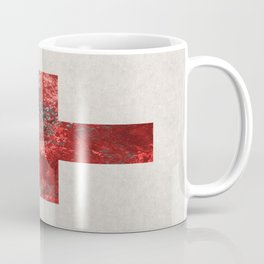 Medic - Abstract Medical Cross In Red And Black Coffee Mug