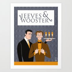 Jeeves and Wooster Art Print