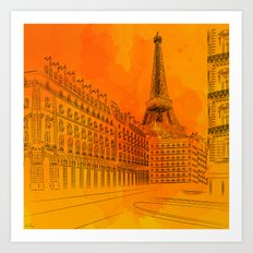 Parisian Sunsets Art Print