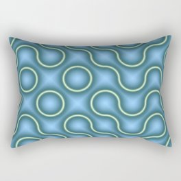 Round Truchets in MWY 01 Rectangular Pillow