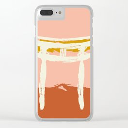 Terracotta Torii Gate of Shinto Shrine Minimalist Clear iPhone Case