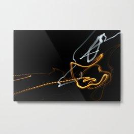 Long Exposer Super Moon and Street Light Metal Print