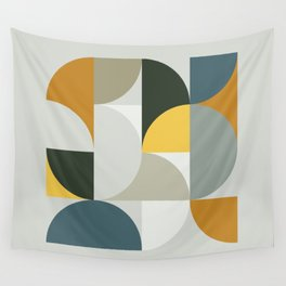 Mid Century Geometric 13 Wall Tapestry