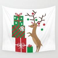 reindeer Wall Tapestries featuring Reindeer by Reg Silva / Wedgienet.net