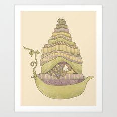 Princess Pea and the Girl Art Print