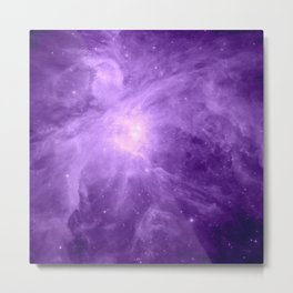 Orion NebuLA Purple Metal Print