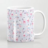 tennis Mugs featuring Tennis by Sara Maese