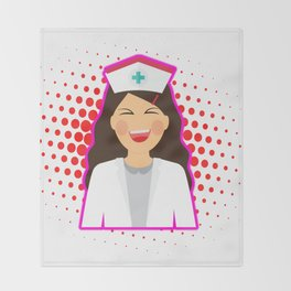Nurse Heart Labs Design Throw Blanket