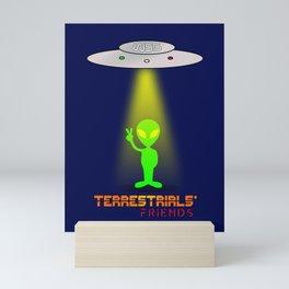 Terrestrials' friends - Aliens Mini Art Print