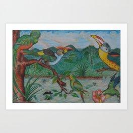 Tropical Dialogue Art Print