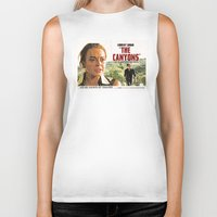 "lindsay lohan Biker Tanks featuring Lindsay Lohan ""The Canyons"" Retro Film Poster by Eric Terino"