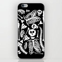 Skeletal Love Heart  (Black) Skulls and Bones iPhone Skin